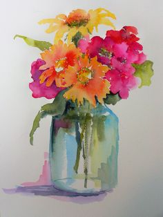 25 Beautiful Watercolor Flower Painting Ideas & Inspiration Painting with watercolors can be difficult. Luckily, here's a list of 25 Beautiful Watercolor Flower Painting Ideas and Inspiration. Easy Watercolor, Watercolor Cards, Watercolour Painting, Painting & Drawing, Watercolors, Flower Watercolor, Watercolor Pictures, Watercolor Water, Watercolor Artists