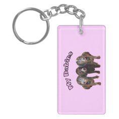 Three Dachshund Dogs Key Chain Acrylic Key Chain