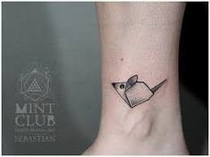 mouse tattoo origami - Google Search