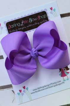 Hey, I found this really awesome Etsy listing at https://www.etsy.com/listing/95303243/purple-bow-4-boutique-bow-darling-little