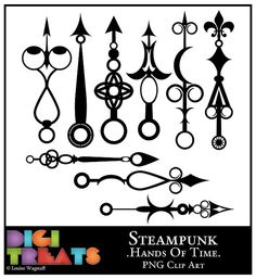 Steampunk Hands Of Time Silhouette 9 High Quality by DigiTreats