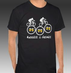 55da971c Beers & Gears T-Shirt Men's American Apparel USA-Made by BEERloved Cut