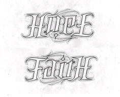Hope Faith AMBIGRAM by ~lowlife619 on deviantART