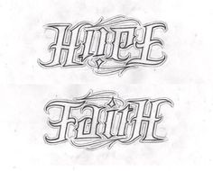 If i ever got a tattoo it would be a prettier version of this or the ambigram of trust and faith. love ambigrams!