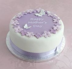 personalised mothers day cake decorating kit by clever little cake kits notonthehighstreet Bolo Fondant, Fondant Cakes, Cupcake Cakes, Owl Cakes, Cakes To Make, How To Make Cake, Mothers Day Cakes Designs, Mothers Day Cupcakes, Pretty Cakes