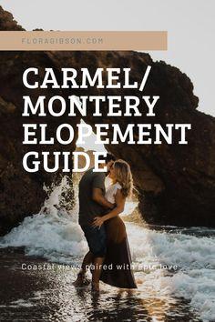 Carmel/ Monterey Elopement Photographer Engagement Inspiration, Elopement Inspiration, Elopement Ideas, California Wedding, California Beach, Monterey California, Beach Elopement, Adventure Photography, Big Sur