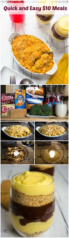 Quick and Easy Meal Ideas Under $10 Southwestern Broccoli Mac & Cheese Casserole and Chocolate Vanilla Parfaits | Brunch Time Baker  #1DollarDeals #shop