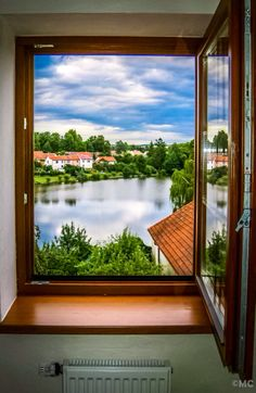 View of the lake - Telč, Czech Republic Umbria Italy, Girls World, Czech Republic, Life Is Beautiful, Windows, Doors, Explore, City, Nature