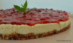 Το πιο υγιεινό νηστίσιμο Cheesecake Diet Recipes, Vegan Recipes, Vegan Cake, Easy Snacks, Raw Vegan, Cheesecakes, Paleo, Food And Drink, Sweets