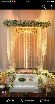 Wedding ceremony decorations arch simple 70 ideas for 2019 Wedding Stage Decorations, Marriage Decoration, Flower Decorations, Diwali Decorations At Home, Flower Decoration For Ganpati, Ganpati Decoration Design, Mandir Decoration, Ganapati Decoration, Board Decoration