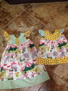 Girls Circus Butterfly Flutter Sleeve Dress sz NB8 by LanetoGrace, $30.00 Perfect for Cora Sue's circus birthday, @Laura! <3