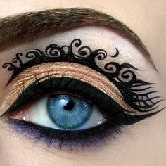 Tim Burton Inspired Makeup Look. Cool but I don't know how I would do it.