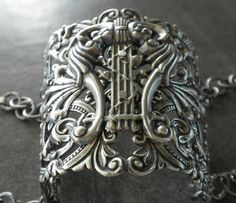 Celtic Jewelry Wide Silver Bracelet Statement Cuff by Serrelynda since I'm going to be  a druid healer, I want to look it