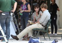 "Carla Bruni-Sarkozy, former model and wife French President Nicolas Sarkozy, films a scene with actor Owen Wilson on the set of the upcoming Woody Allen film ""Midnight in Paris"". Carni has stated in interviews that director Woody Allen approached her and asked her not to do a film with anyone else before with Allen. On Canal+ television she said ""I am not an actress at all, maybe I'll be completely hopeless, but I can't miss an opportunity like this one in my life. - 4 ..."
