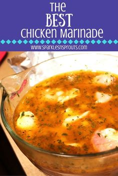 This chicken marinade is a favorite for sure...it is loaded with tons of flavor and is perfect for grilling or roasting making it perfect for dinner this week.