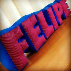 Almofadas 3d  Pillow / letra / letter / decor / room / almofada / mimo / tecido / fabric  www.pontinhosdeminas.com.br
