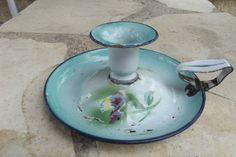 Bougeoir À Main EN Tole Peint Émaillé Japy Collection Cuisine Enamelled | eBay