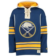 Men s Buffalo Sabres Old Time Hockey Navy Lacer Heavyweight Pullover Hoodie 2b298f5f5