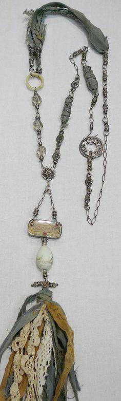 Jewelry 4 nellie wortman - love the textile accents