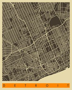 A series of very elegant city road maps