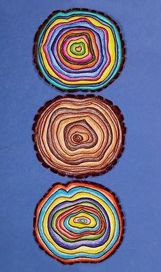 Emergency SUB lesson plan idea! Learn about tree rings using colorful art! Steam Art, Montessori Art, Montessori Elementary, 2nd Grade Art, Atelier D Art, Art Lessons Elementary, Elementary Science, School Art Projects, Science Art