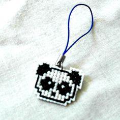 Tiny Panda Kawaii Charm Cross Stitched by SnarkyLittleStitcher, $4.00