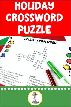 Winter holiday and Christmas language activities. Includes crossword puzzles, vocabulary cards, conversation starters, and more to target prepositions, descriptors, compare contrast, and a variety of other goals. #slp #tpt #slpsontpt