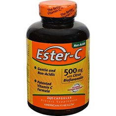 American Health Ester-C with Citrus Bioflavonoids - 500 mg - 240 Capsules -- More info could be found at the image url.