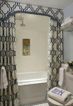 Ceiling long curtain rod