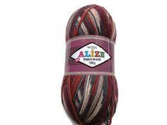 Superwash Sock Yarn Alize  Destash yarn Sock yarn by Solviashop