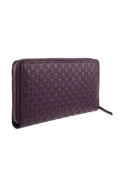 Gucci_Micro Guccissima Zip Around Wallet - Grape