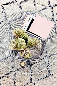 coffee table + rug