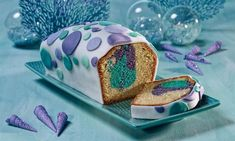 Nixen-Kuchen Rezept: Einbunter Kastenkuchen für Meerjungfrauen - Eins von 7.000 leckeren, gelingsicheren Rezepten von Dr. Oetker!