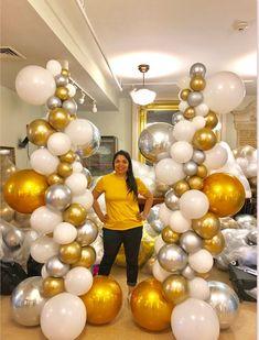 Bridal Shower Balloons, Wedding Balloons, Balloon Columns, Balloon Decorations Party, Balloon Bouquet, Party Planning, Dyi, Graduation, Party Ideas