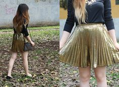Golden Skirt  hype me & and fan me on Lookbook.nu here ---> http://lookbook.nu/karencardiel