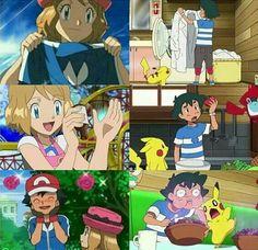 Kalos Pokemon, Pokemon Waifu, Ash Pokemon, Pokemon Ships, Pokemon Comics, Pokemon Funny, Cute Anime Chibi, Kawaii Anime, Pokemon Ash And Serena