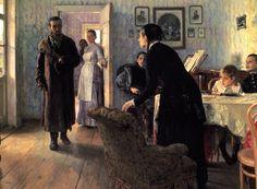 """Il'ja Repin """"El Retorno del Deportado (1884)"""