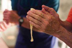 Form strange shapes (pici pasta!)