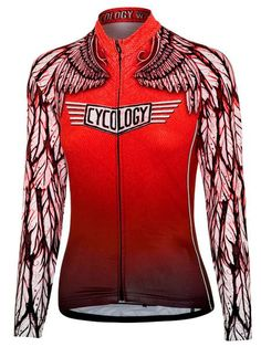 Free Flight womens red long sleeve cycling jersey Free Shipping On All Orders!