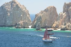 Cabo San Lucas, Mexico was a fun place to relax on a sale boat...Katie joined us and made it extra special.