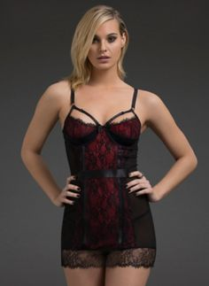 Strappy Demi Cup Lace Babydoll | Lingerie