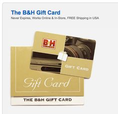 http://www.bhphotovideo.com/find/giftCard.jsp  Any amount gift card!