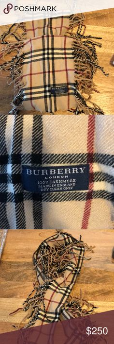 Authentic Burberry scarf Perfect for the rest of winter! This is a classic Burberry scarf with fringes down either side. Burberry Other