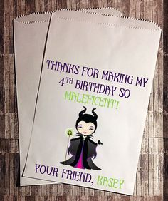 Maleficent Birthday Candy Buffet Bag  by StudioSeventyEightCo, $6.60