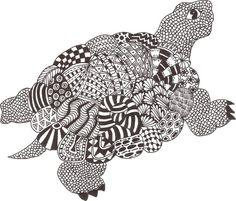 Zentangle Animals   Zentangle made by Mariska den Boer 06