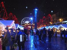 Hasselt,Brussels Christmas Market, snowed the evening I was there; so pretty