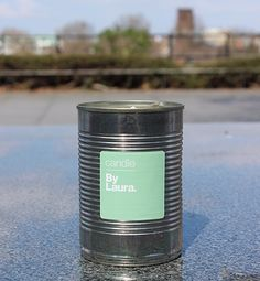 By Laura Can Can candle - made in a recycled / up-cycled tin can