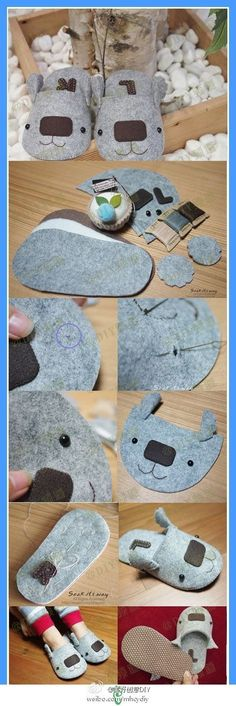 Non-woven slippers, too cute! Images from the web - more interesting content, please pay attention to good creative DIY