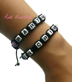 Pave Crystal Partners In Crime Friendship Bracelets by PinkDazzled, $18.99