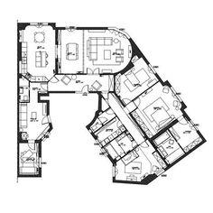 Cabinet Medical, Penthouses, Apartments, Living Spaces, House Plans, Floor Plans, Layout, Flooring, Paris